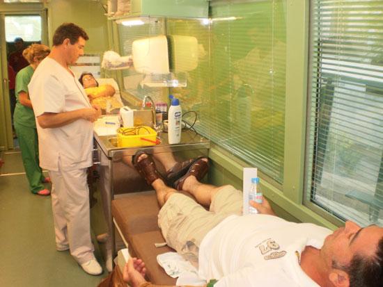 Colecta de los donantes de sangre