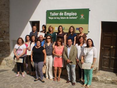Clausura del taller de empleo en Valenzuela