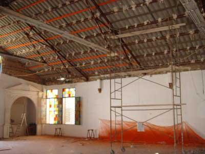 Obras en la iglesia de la Asunción